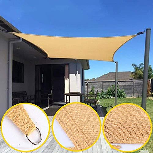 QQB La Cortina de Sun Sail rectángulo de Arena, Toldo Impermeable 85% UV Bloque Protector Solar Toldo for Patio al Aire Libre del césped del jardín Pergola Plataforma Lienzo KNDTA (Size : 3x4m)