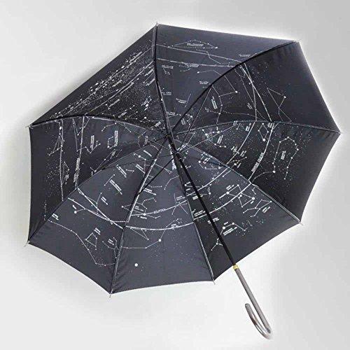 BiuTeFang Paraguas Ultraligero varilla recta mango largo plata plástico paraguas constelación protector solar sombrilla protección UV modelo de estrella 83x95cm