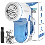 DB Degbit Upgrade Rechargeable Lint Remover & Fabric Shaver, 3-Leaf Stainless Steel Blades Effective Lint Shaver, Portable Pill Fuzz Remover for Fabric, Clothes, Furniture, Pet Hair, Blanket