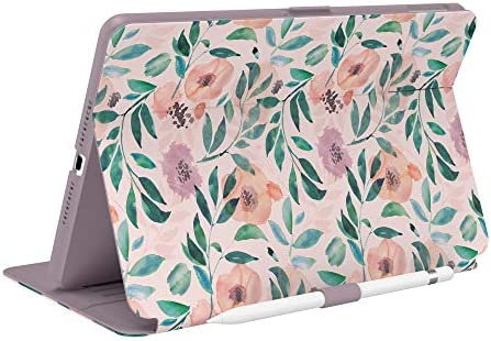 Speck Products Balance Folio Print iPad 2019 2020 Case and Stand Watercolor Roses Washed Lilac product image