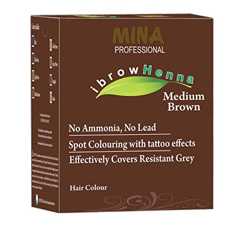 MINA Professional Ibrow Henna Medium Brown Refill Pack For hair coloring