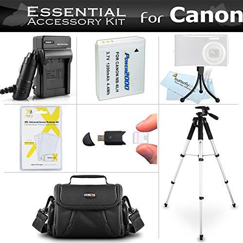 Essential Accessories Bundle Kit for Canon PowerShot SX170 is, SX520 HS, SX530HS SX530 HS, SX540 HS Digital Camera Includes Replacement (1200maH) NB-6L Battery + Charger + Case + 57 Tripod + More