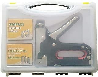 Upholstery Staple Gun, Nail Gun,3 in 1 Staple/Brad Nail Gun, 3 Way Tacker Tool with 900 Staples for Fixing Material, Decoration, Carpentry, Furniture, Doors and Windows, Billboards