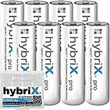 kraftmax 8er Pack hybriX pro Set - 8X Mignon AA Hybrid Akkus in Box - Die Neue Generation von Hybrid Akku Batterien