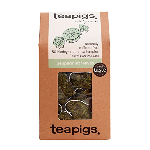 Tea Pigs Peppermint Herbal Tea Bags Made With Whole Leaves (1 Pack of 50 Teabags)