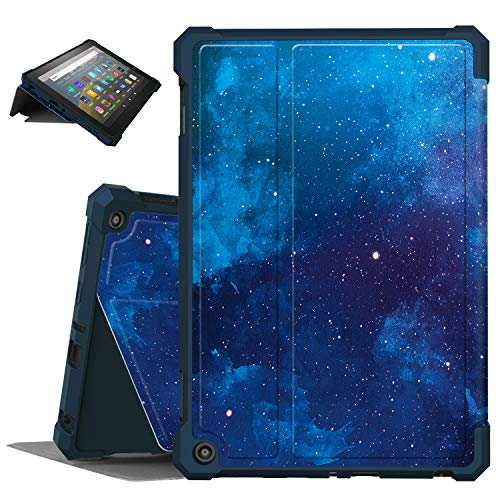 Famavala Multi-Angles Case Cover Compatible with All-New 8' Fire HD 8 / Plus (10th Generation 2020 Release) Tablet (BlueSky)