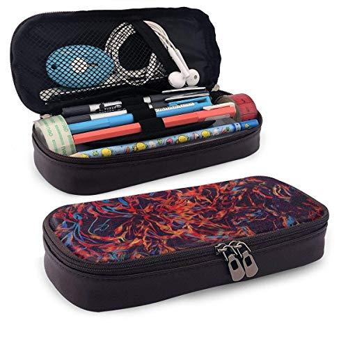 Lawenp Hand Drawn Paints PU Leather Pencil Pen Case Pouch Bag School Office Coin Purse Cosmetic Makeup Bag