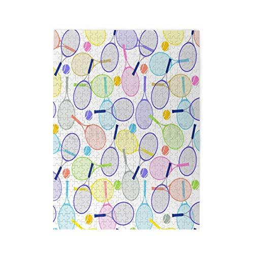 Raqueta de tenis de color Puzzle - rompecabezas para adultos 500 piezas Puzzle de imagen Rompecabezas GgDupp