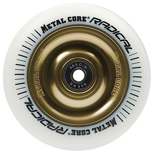 RADICALWGOLD110, Rueda Metal Core, goma blanca y núcleo dorado
