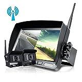 "UNITOPSCI Digital Wireless Reversing Camera System Kit No Interference 7"" LCD Wireless Reversing"