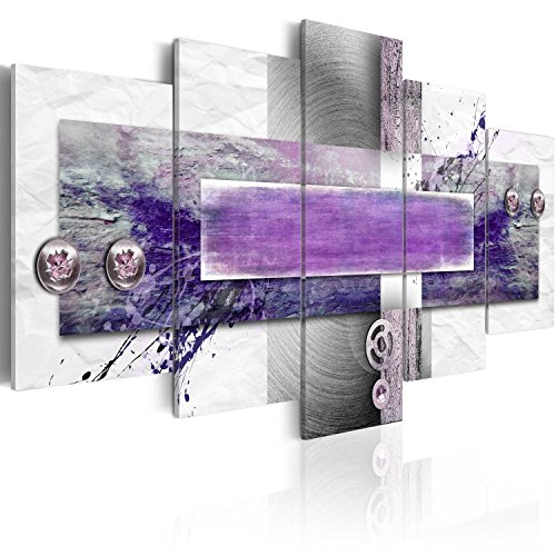 murando Cuadro en Lienzo Violeta 200x100 cm Impresión de 5 Piezas Material Tejido no Tejido Impresión Artística Imagen Gráfica Decoracion de Pared Abstracto 020101-194