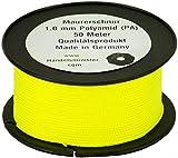 1mm Maurerschnur 50m neongelb Pflasterschnur Richtschnur Lot Verlegeschnur gelb PA Polyamid