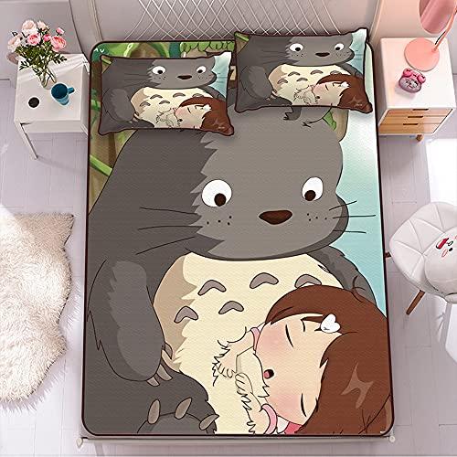 Boyijj Totoro Anime Juego de Ropa de Cama con Funda nórdica de Microfibra (120CM*190CM-2PCS)