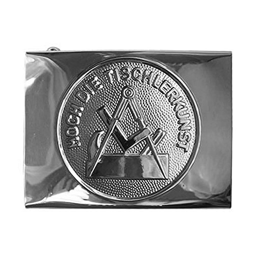Tischler & Schreiner Handwerk & Zunft Koppelschloss, Schloss silbern / Emblem silbern, Fuer-45mm-breite-Koppelguertel
