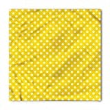 Lunarable Unisex Bandana, Yellow Polka Dots Traditional Motif, Yellow White