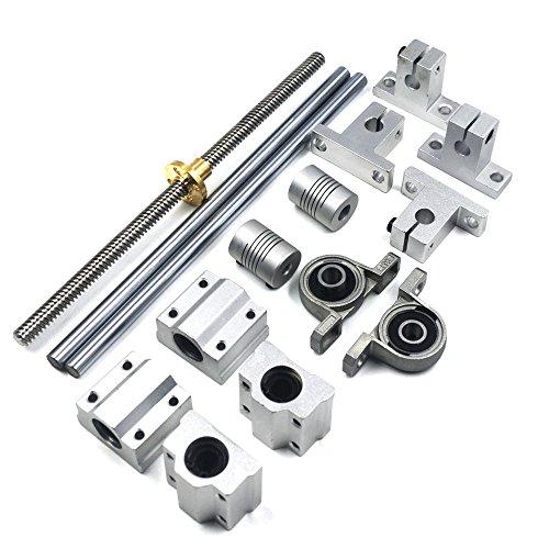 Mergorun 5pcs Multifunctional 304 Stainless Steel Spring Loaded Gate Snap Carabiner Quick Link Lock Ring Hook M12 140mm