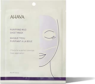 AHAVA Time to Clear Purifying Mud Sheet Mask Doekmasker, 100 g