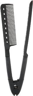 Baoblaze Salon Barber Hairdresser Hairdressing Styling Comb, Hair Straightener Folding V Type Comb