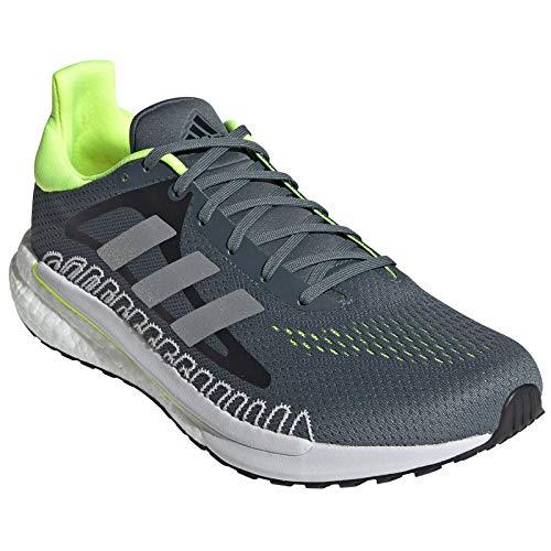 adidas Glide M, Zapatillas para Correr Hombre, Blue Oxide/Silver Met./Solar Yellow, 42 EU