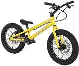 LAMTON Ensayos 16 Pulgadas Street Bicicleta Completa Trial Bike for los niños, Frame TP16 I aleación de Aluminio y Tenedor, WINZIP Doble línea de actuación de Freno de Disco (Color : Yellow)