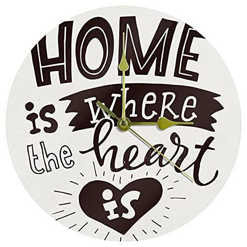 Yoliveya Reloj de pared redondo silencioso decorativo para el hogar, no hace tictac, silencioso, para regalo, hogar, oficina, cocina, guardería, sala de estar, dormitorio, 25 cm