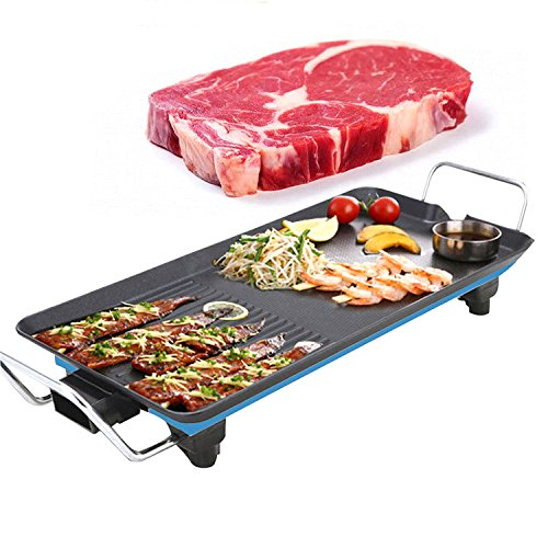 LaDicha 1500W Electric BBQ Grill Koreanisch Rauchfreier Grill Kocher Teppanyaki Non-Stick Kochplatte