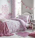 Catherine Lansfield Folk, diseño de Unicornio, Color Rosa, Rosa, 27 x 3.5 x 37...