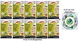 Schaebens Matcha Maske - mit Matchapulver, Ingwer, Ginseng, Reiskeimöl - (10 Einheiten mit je 2 x 5 mL - Für 20 Anwendungen) - Für alle Hauttypen - (+ Gratis Hologramm Sticker)