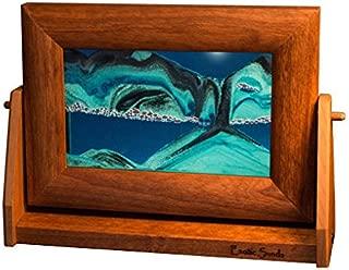 Exotic Sands Original Moving Sandscapes Sm11 Handcrafted in USA, Small Alder Frame (Ocean Blue) Voted America's Best Gift Idea 2017.