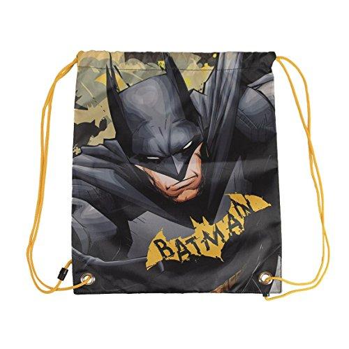 Batman Unisex-Erwachsene V1300525 Drawstring Bag (31 x 38 cm), Mehrfarbig, 31 x 38 Centimeters