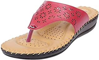 HEALTH FIT Ortho Slippers-Dr Sandals for Women Suitable for Knee Pain, Diabetic & Orthopedic Footwear for Women HF357