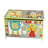 Bieco 74004813 – Spielzeugtruhe und Sitzbank in einem, Motiv Safari, ca. 60 x 40 x 37 cm - 6