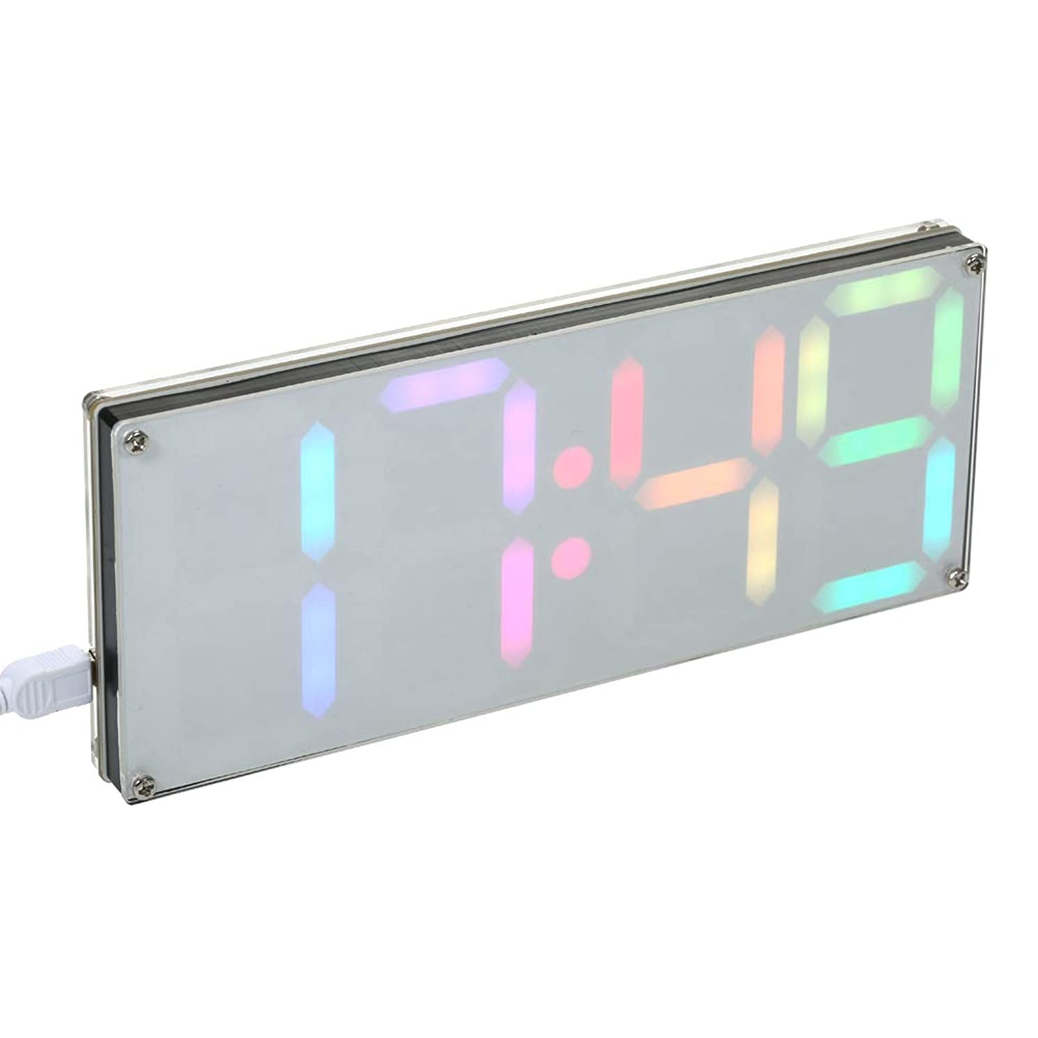 KKmoon DS3231 DIY 4-digit Digital LED Clock Kit with Rainbow Colors and Transparent Case
