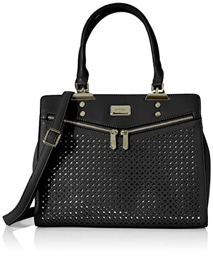 Bessie London Damen Urban Laser Cut Tote, Schwarz (Black), 16x27.5x34.5 Centimeters