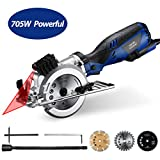 Homitt Circular Saw with Laser Guide 705W 3500RPM, Electric Saw with 3...
