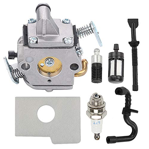 Savior MS170 Carburetor with Fuel Oil Filter Fuel Oil Line Spark Plug Air Filter for Sthil MS 170 Carburetor MS180 017 018 MS170C MS180C Carb Zama C1Q-S57A C1Q-S57B Chainsaw 1130-120-0603