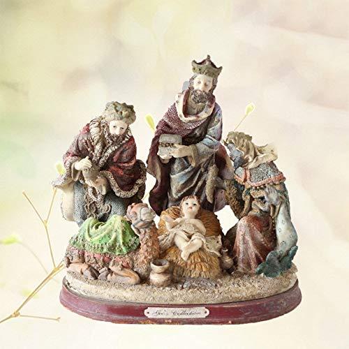 JWWOZ Natividad Escena del Pesebre Grupo Cristiano Religioso Iglesia Católica De Resina Adornos