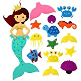 Aytai Pin The Tail on the Mermaid Party Games with Felt Detachable Ornaments for Kids Birthday Party Hanging Decorations