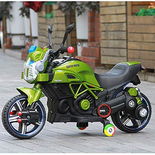 BJYG Nuevo Coche eléctrico para niños Motocicleta Triciclo Los niños Pueden Sentarse Coche de Juguete Hombres y Mujeres Coche con batería de bebé Se Puede Cargar Paseo en vehículos Niño Niña Colu