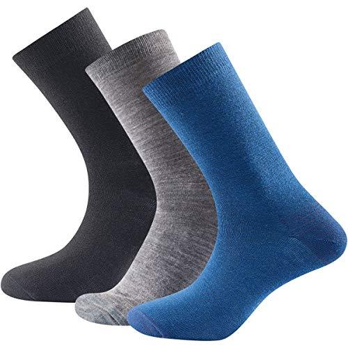 Devold Daily Light Sock 3PK Größe 41-46 indigo mix