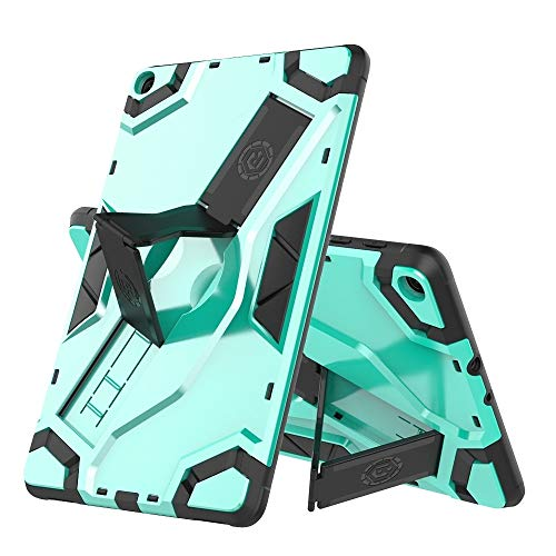 MOYOFEE JYMD AYYD For Samsung-Galaxy Tab A 8.0 (2018) T387 Escort Series TPU + PC Shockproof Protective Case with Holder (Color : Mint Green)