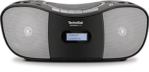 TechniSat Digitradio 1980 Stereo CD Radio Boombox (DAB+, UKW, USB-Schnittstelle, CD Player, Kassettendeck, Kopfhöreranschluss, USB, AUX in) schwarz