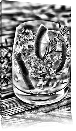 Gin en tonic drinkenFoto Canvas | Maat: 80x60 cm | Wanddecoraties | Kunstdruk | Volledig gemonteerd