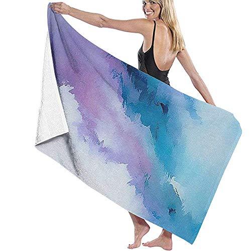 Lfff Sky Soft Absorbente Ligero para baño Piscina Yoga Pilates Manta de Picnic Toallas de Microfibra 80cm * 130cm