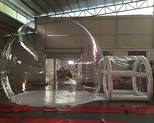 JYNselling 3/4/5/6/8m Transparent Inflatable Bubble Camping Tent Single Tunnel with Blower and Air Pump (5m)