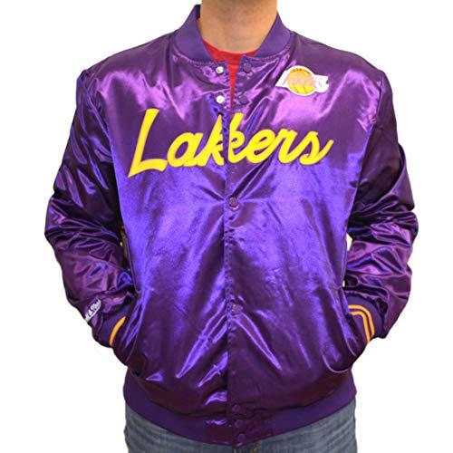Mitchell & Ness NBA Special Script Lightweight Satin College Jacket L.A. Lakers Purple (Violett, XL)