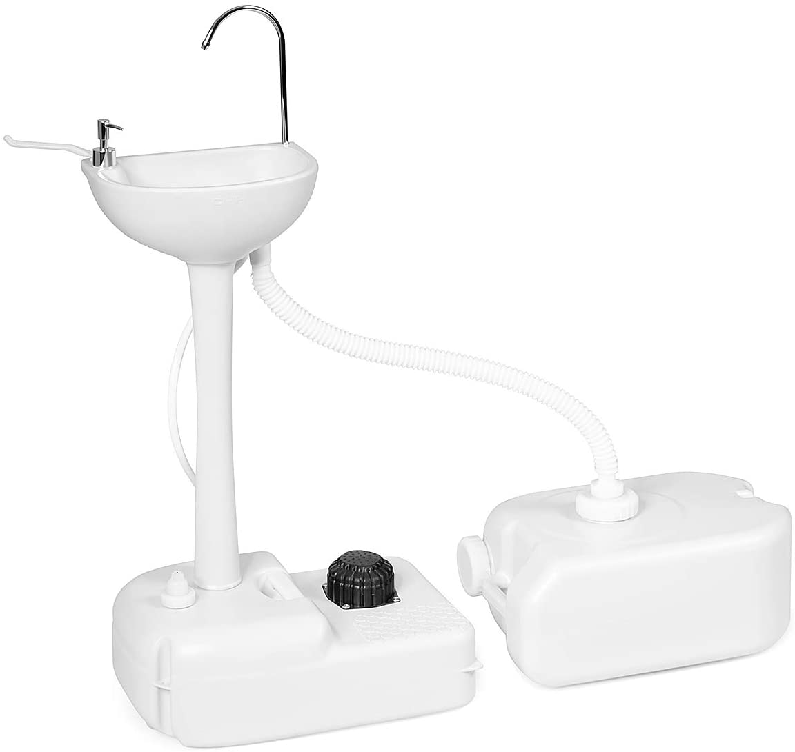 Giantex In a popularity Store Hand Washing Station Portable W 4.5 Gal Sink Wheels