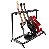 AW 7 Seven Holder Multi Guitar Folding Stand Band Stage Bass Acoustic Guitar Display Rack