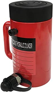 "50 Ton 6/"" Stroke Hydraulic Cylinder Lifting Jack Ram 10/"" Closed Height Lock Nut"
