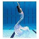 Costume Sirena da Bagno Bikini Ragazze, Coda di Sirena per Nuotare, Costume Sirena Bambina, Adatto per Il Nuoto(Color:Stile-A)